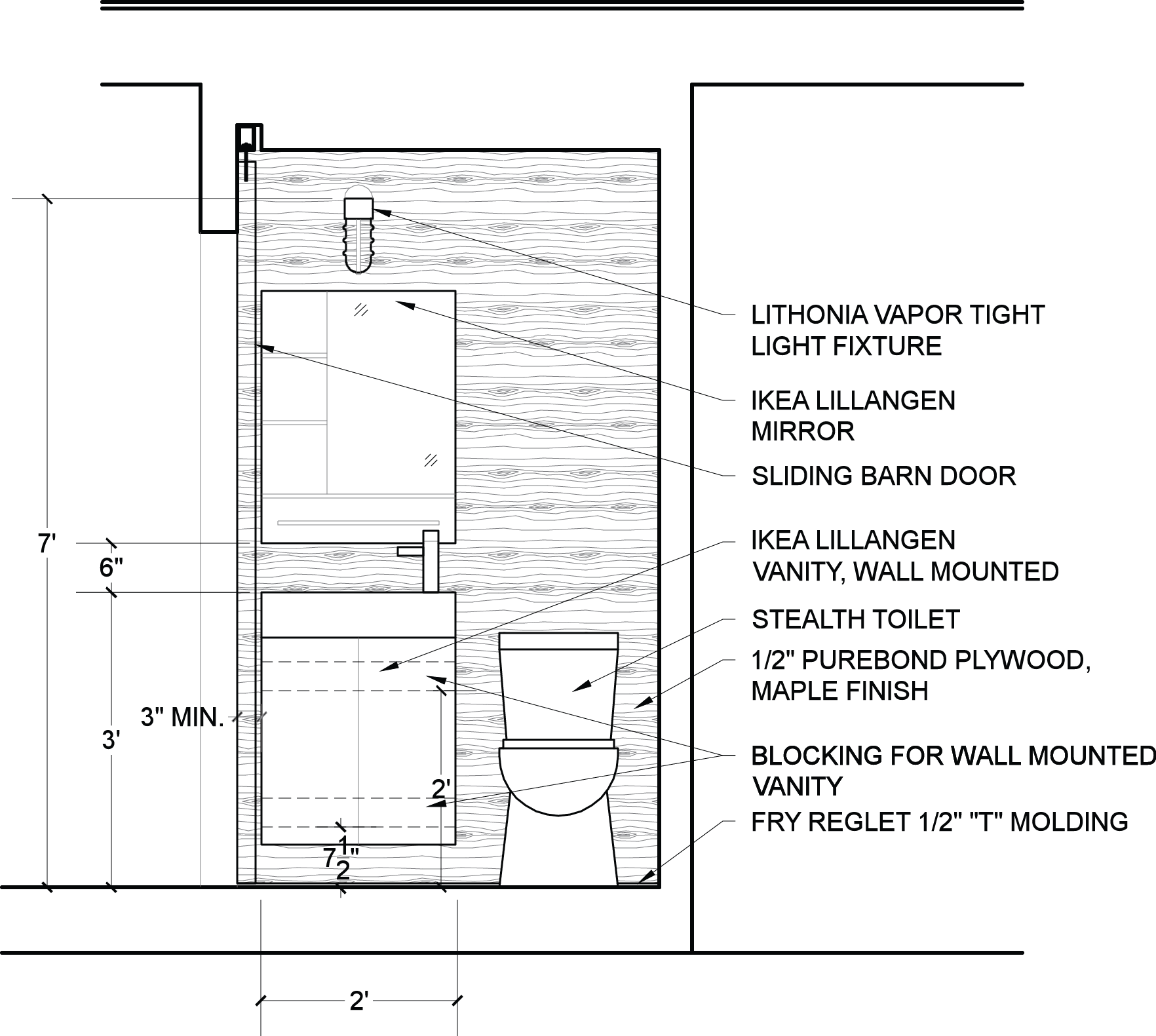 Toilet Elevation Plan : Bathroom elevations urban home indy