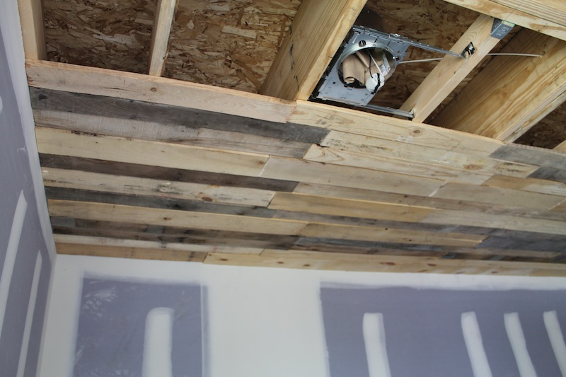 Pallet Pallet Ceiling Installation 171 Urban Home Indy