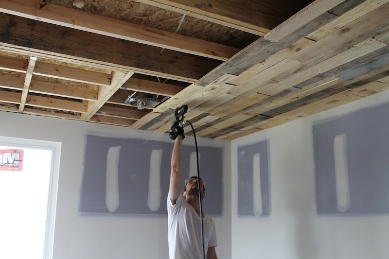 Pallet Ceiling Installation | urban home INDY