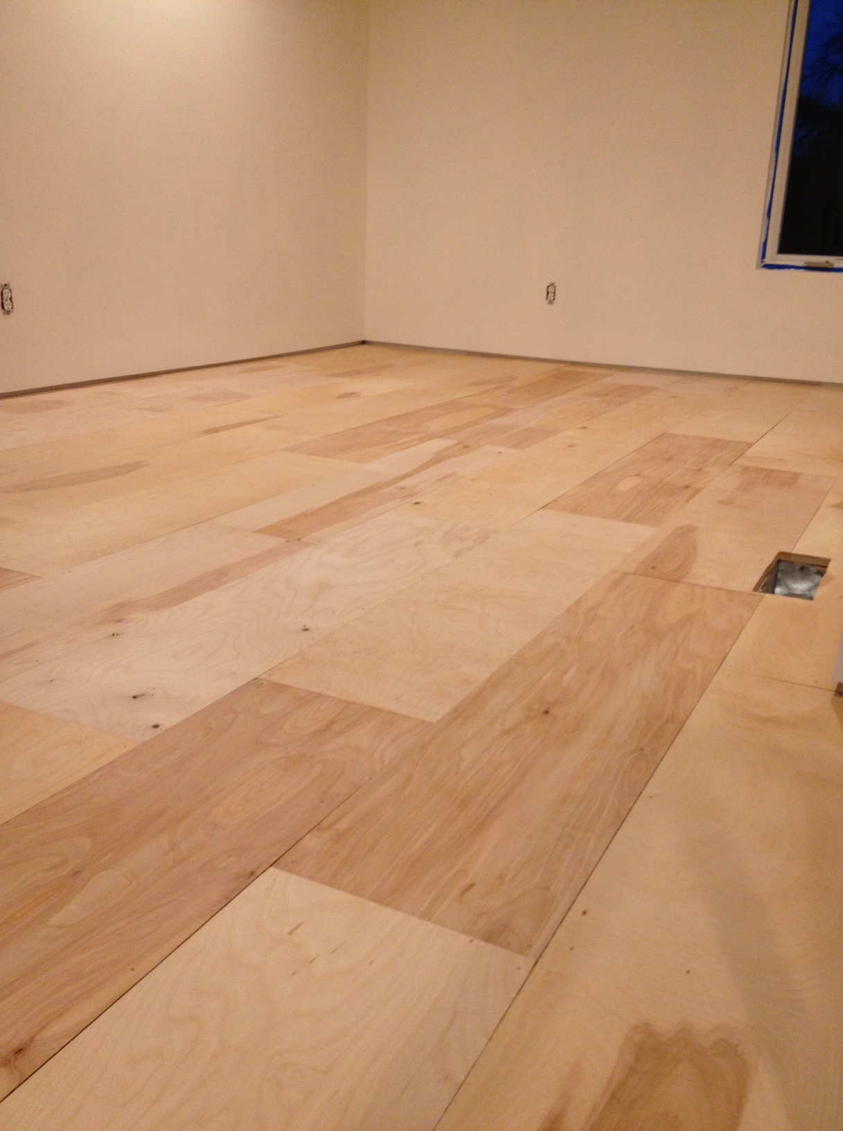 Plywood flooring installation urban home indy for At floor or on floor