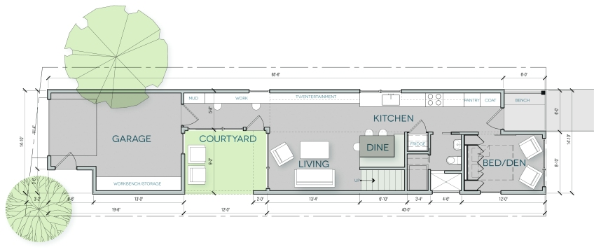 House Plan urban home INDY